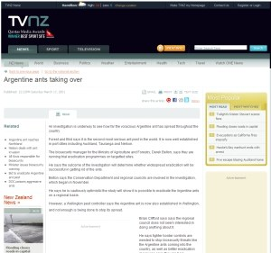 TVNZ Website News Article